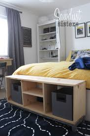 Diy Ikea Bed Diy Bench With Storage Compartments Ikea Nornas Look Alike