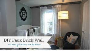 Fake Exposed Brick Wall Diy Faux Brick Wall Knock It Off Diy Project East Coast