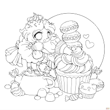 chibi frosting fairy coloring page free printable coloring
