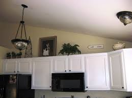 Top Of Kitchen Cabinet Decor Ideas Above Kitchen Cabinet Storage Wood Table Floating Cabinet