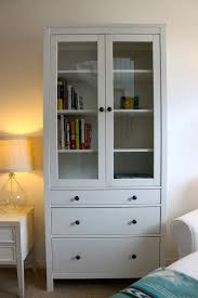 interior alluring idea of white book shelf with doors to get