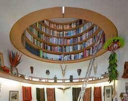 ideas circular attic library bookcase design ideas furniture