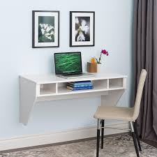 furniture white ikea floating desk with upholstered chair and
