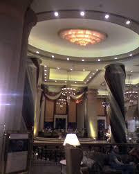 ceiling design in hotel hall lobby gharexpert