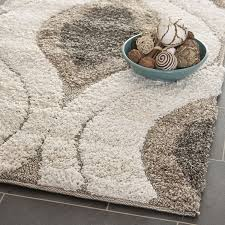 Pebble Area Rug Amazon Com Safavieh Florida Shag Collection Sg461 1179 Cream And