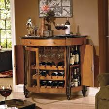 rectangular espresso varnished wooden wine cabinet ideas come with
