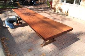 Outdoor Furniture Finish by Custom Tables Heritage Salvage