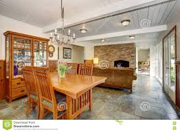 house interior with open floor plan including dining room living