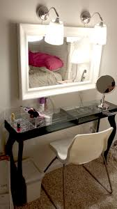 ikea media center hack my version of the vanity made from ikea hacks hemnes mirror