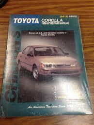 chilton u0027s toyota corolla 1988 97 repair manual 68302 8414