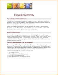 Example Executive Summary Format  executive summary resume     happytom co    executive summary sample   Financial Statement Form   example executive summary format