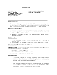 Sample Resume Format For Bcom Freshers by General Career Objective For Resume Examples