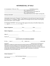Bill For Services Template Free Notarized Bill Of Sale Form Pdf Word Eforms U2013 Free