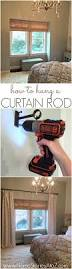 how to hang a curtain rod and black decker drill giveaway home