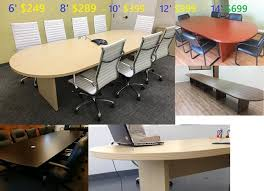 8 Foot Desk by Conference Tables 6 8 10 12 14 Foot New In Black Maple Cherry