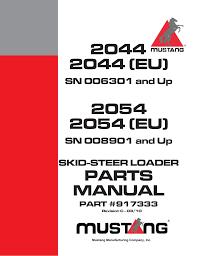 2044 2044 eu 2054 2054 eu parts manual mustang