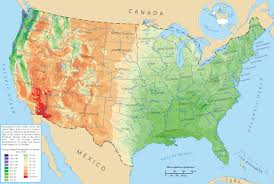 Large Map Of Usa by Precipitation States Of Usa