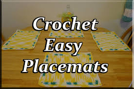 crochet easy table placemats youtube