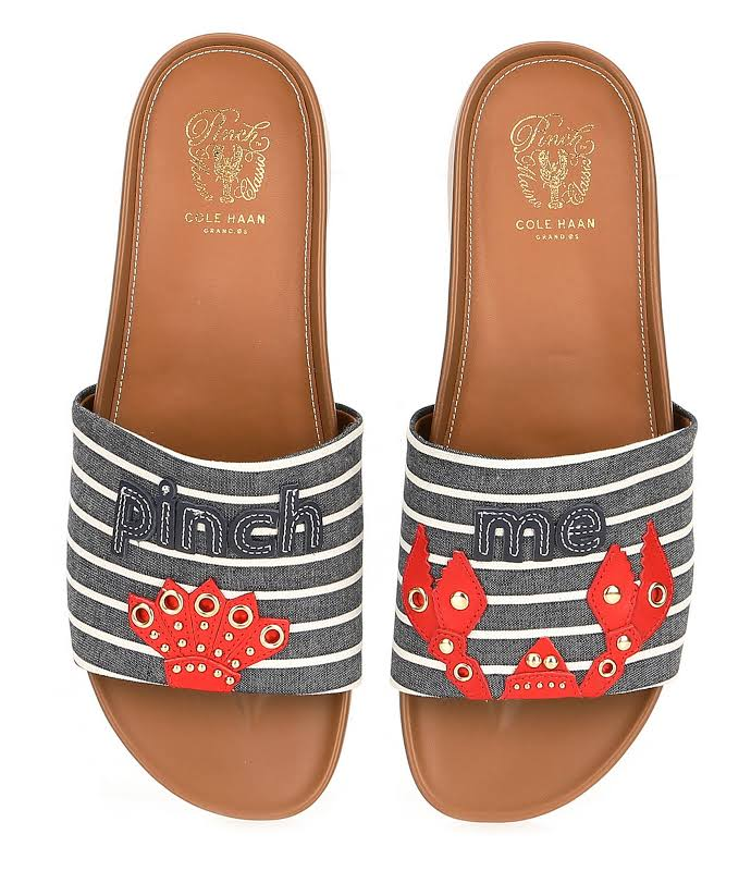 Cole Haan Pinch Montauk Lobster Slide Canvas Aura Orange / Marine Blue Ankle-High Slip-On Shoes 8.5M