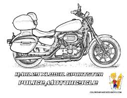 police motorcycle coloring pages eson me