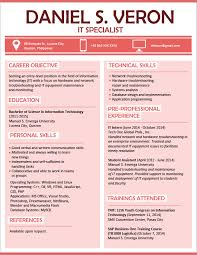 Resume Writing Singapore   Example Good Resume Template