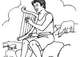 harp coloring page david and goliath coloring pages coloring4free com