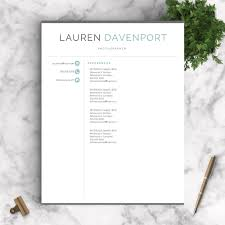 Resume Template For Mac Pages Professional Resume Template The Davenport