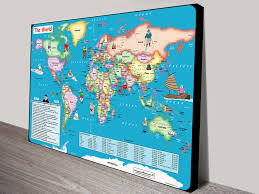 World Map Canvas by Fun World Map For Kids Canvas Print