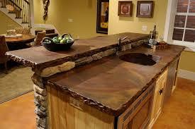 wooden kitchen worktops white tile backsplash brown wooden