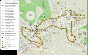 Grand Park Los Angeles Map by Dash Lincoln Heights Chinatown Ladot Transit Services