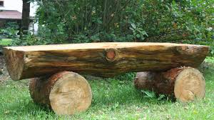 Basic Wood Bench Plans by Creating Massive Log Bench Logs Pine And Gardens