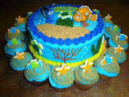 Finding Nemo Centerpieces by Image Of Coolest Finding Nemo Birthday Cakes Dory Cakes