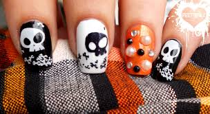 nail art designs halloween nail art designs with orange bubble