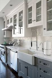 Love The Little Pops Of Green In With The Clean White Dishes For - Kitchen cabinet with glass doors