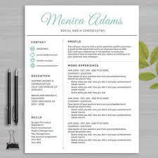 Resume Template For MS Word and PAGES     and   page resume  cover letter