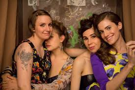 Lena Dunham brings      Girls      to Tokyo for a fifth season episode         Perfect print club  The cast of      Girls      includes  from left  Lena