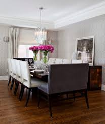 Dining Table With Banquette Dark Wood Dining Table Ideas Dining Room Transitional With Dark