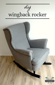 ikea hack strandmon rocker diy wingback rocking chair