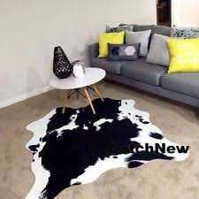 Cow Print Rugs Animal Print Tribal Area Rugs Ebay