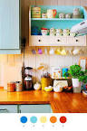 Bright And Colorful Kitchen Design Ideas With Unique Design With ...