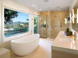 neutral beige bathroom fully tiled around bath wall paint color