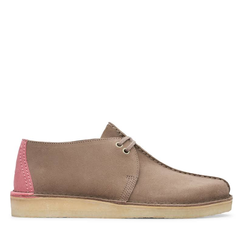 Clarks Desert Trek 26148601 Gray Suede Casual Lace Up Oxfords Shoes