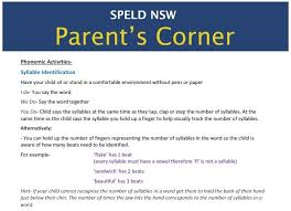 Spelling Homework Help For Parents   Sept        SPELD NSWSPELD     Audience  Parents and Carers