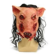 halloween costume mask halloween scary creepy pig animal mask halloween costume party
