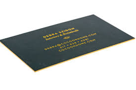 thick black interior design business card gold foil stamp gold