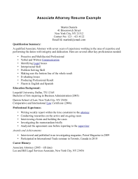Qualifications Summary Resume Example by 44 Effective And Simple Attorney Resume Samples That Might Help
