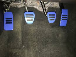 mustang gt500 style pedal covers manual blue 05 14 gt v6