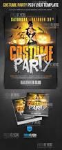 costume party halloween psd template halloween flyer templates