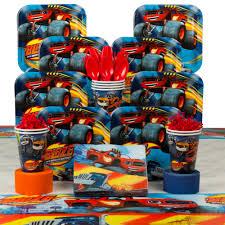 blaze monster machines birthday deluxe tableware kit