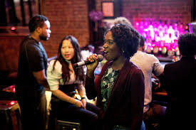 Where to Be Single in New York   The New York Times Natasha Zamor  performing    Killing Me Softly    in Brooklyn  Credit Demetrius Freeman for The New York Times